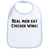 Men eat Chicken Wings Bib