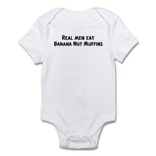 Men eat Banana Nut Muffins Infant Bodysuit