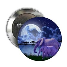 "Contemplative Elephants 2.25"" Button"