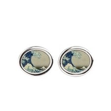 Great Wave by Hokusai, Vintage Japanese  Cufflinks