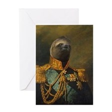General Sloth Greeting Card