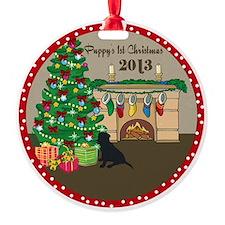 2013 Black Lab 1St Christmas Ornament