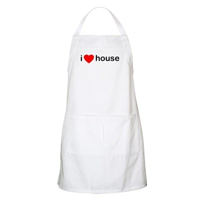 I Heart House BBQ Apron