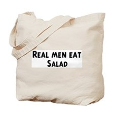 Men eat Salad Tote Bag