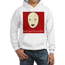 Bald and Beautiful on red Hoodie