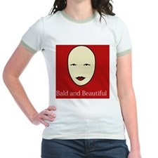Bald and Beautiful on red T