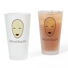 Bald is Beautiful Drinking Glass