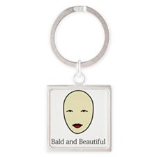Bald is Beautiful Square Keychain
