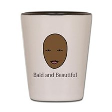 bald and beautiful pink Shot Glass