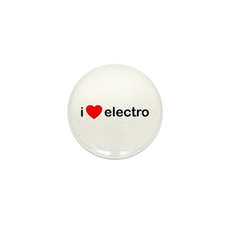 I Heart Electro Mini Button (10 pack)