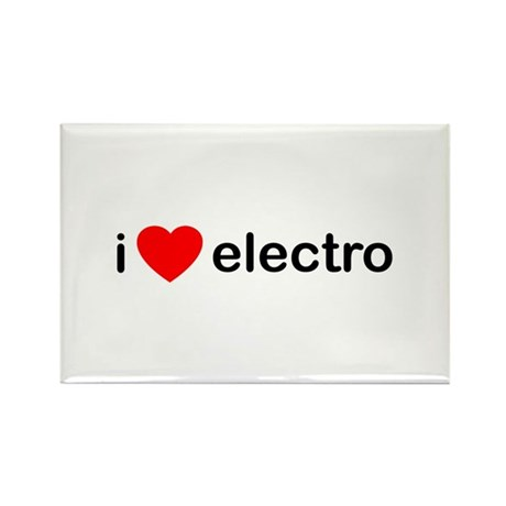 I Heart Electro Rectangle Magnet (100 pack)