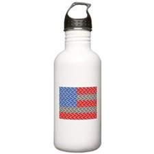 flag Diamond Water Bottle