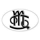 Cancer & Scorpio B/W Oval Decal