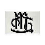 Cancer &amp; Scorpio B/W Rectangle Magnet (100 pack)