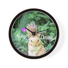 Chipmunk and garden bunny Wall Clock