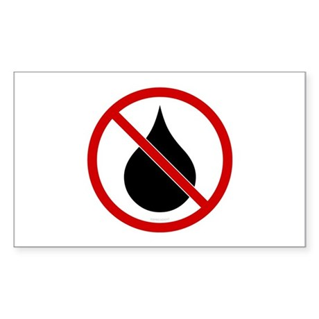 No Oil Rectangle Sticker