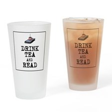 Drink Tea and Read Drinking Glass