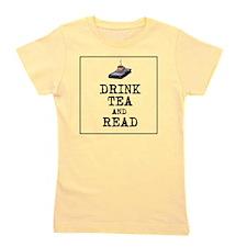 Drink Tea and Read Girl's Tee