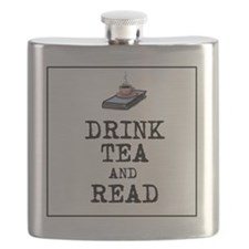 Drink Tea and Read Flask