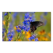 Wildflowers  Butterfly Decal