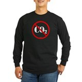No More C02 Long Sleeve Black Tee