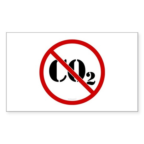 No More C02 Rectangle Sticker