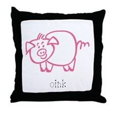 Oink, The Pig Throw Pillow