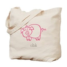 Oink, The Pig Tote Bag