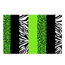 Lime Green Animal Print S Postcards (Package of 8)
