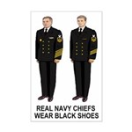 Mini Poster: Real Navy Chiefs Wear Black Shoes