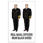 Large Poster: Real Navy Officers Wear Black Shoes