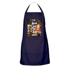 An amazing cast is good company Apron (dark)