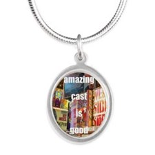 An amazing cast is good compa Silver Oval Necklace