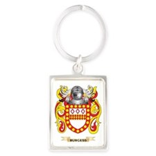 Burgess Coat of Arms Portrait Keychain