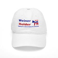 weiner holder 2016 liberal values bump Baseball Cap