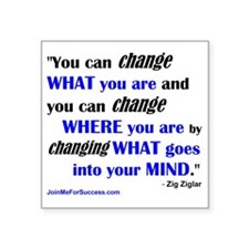 "You Can Change What You Are Square Sticker 3"" x 3"""