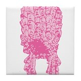 Pink Wig Graphic Tile Coaster
