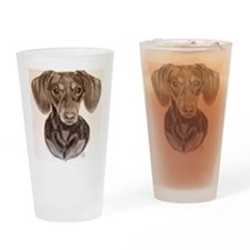 Daschund Drinking Glass