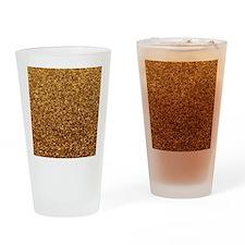 Faux gold glitter Drinking Glass