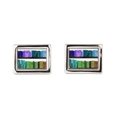 Rainbow bookshelf Cufflinks