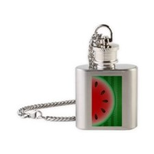 Watermelon Slice Flask Necklace
