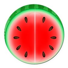 Watermelon Slice Round Car Magnet