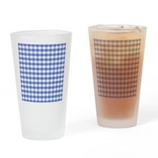 Dark blue gingham Drinking Glass