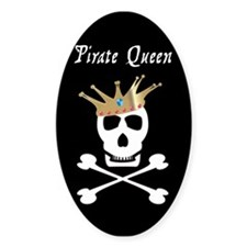 Pirate Queen Oval Decal