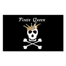 Pirate Queen Rectangle Decal