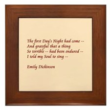 First Day's Night Framed Tile