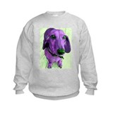 Seeing Purple Dachshund Sweatshirt