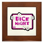 Dice Night Framed Tile