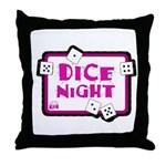 Dice Night Throw Pillow
