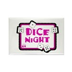 Dice Night Rectangle Magnet (10 pack)